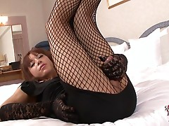 Pretty tgirl Seira Mikami has numerous outfits to wear and in her hot scene today she will be rocking one of her favorite sexy black dress paired with fishnet stockings and heels, and she looks sexy and classy. When she smiles it will capture your heart!