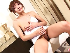TS Yuki Mizuno is absolutely stunning. Her tits alone are amazing! She is a dime piece for sure! See for yourself as Yuki poses and strips for you!