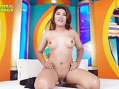 Aogast is back and she is no shy little flower in fact she is so excited to get naughty for you. This lovable lady loves to masturbate and she loves doing it in front of the camera showing her naked tits, ass and nice uncut cock. What a sexy lady she is a