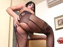 Micky is a sexy tall tgirl with a hot body, perky boobs, a nice ass and a sexy hard cock! Enjoy this horny transgirl jacking off and cumming for you!
