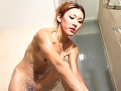 Confident tgirl Karina flows heavenly as she walks down the path. When she gets home, her sex appeal sizzles with greater capacity as she seduces the camera with her gorgeous legs. Her cock and titties add major stimuli. This solo shoot is one of her best