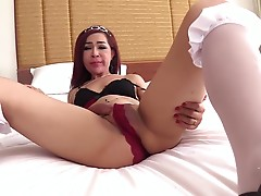 After a fine blowjob Sol lays back on the bed. She lifts her legs and peels off her tiny panties. Sol`s beautiful asshole is on full display. The hard dick starts to slide inside Sol, she winces in pleasureful pain as she takes it to the root.