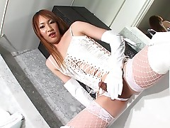 Haruka has a whole lot to offer to us and this time she`s all about putting her delicious goodies in your face. She has a nice body, natural tits and a rock hard uncut tgirl cock. Watch this gorgeous and sexy tgirl as she has a lot of fun with her nice bi
